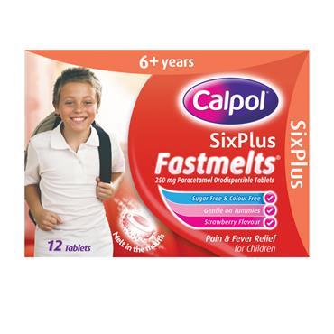 CALPOL SIX PLUS SUGAR FREE FASTMELTS 12 TABLETS