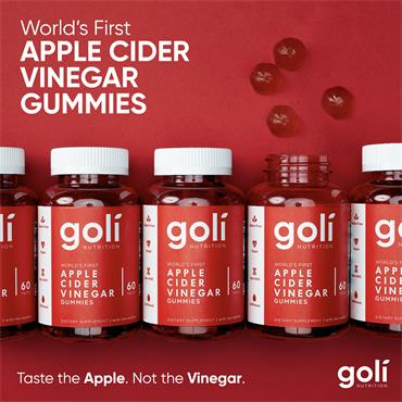 GOLI GOLI APPLE CIDER VINEGAR GUMMIES 60 PACK