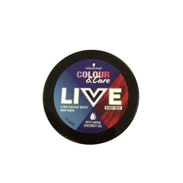 SCHWARZKOPF LIVE COLOUR AND CARE HAIR MASK RUBY RED