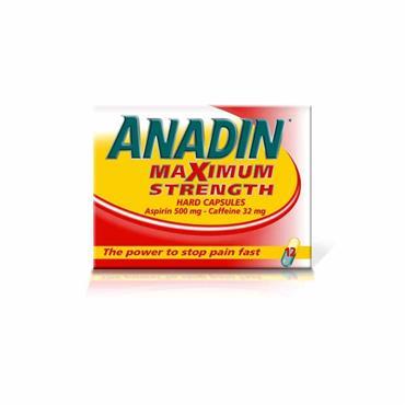 ANADIN ASPIRIN MAXIMUM STRENGTH CAPSULES