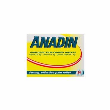 ANADIN ASPIRIN TABLETS 24 TABLETS