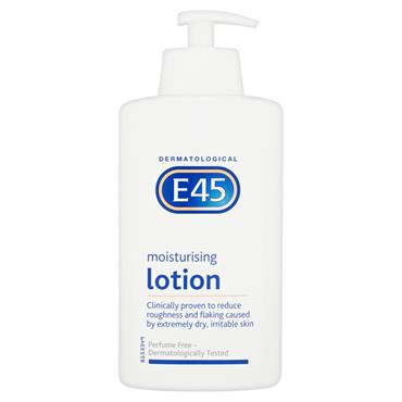 E45 MOISTURISING LOTION PUMP DISPENSER 500ML