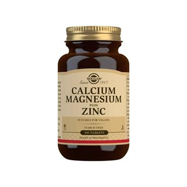 SOLGAR CALCIUM MAGNESIUM ZINC TABLETS 100 E520