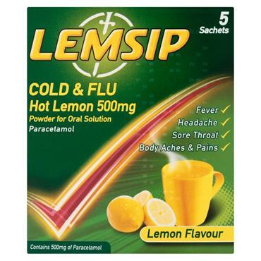 LEMSIP COLD & FLU ORIGINAL LEMON 5S