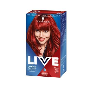 SCHWARZKOPF LIVE INTENSE COLOUR PERMANENT REAL RED 035