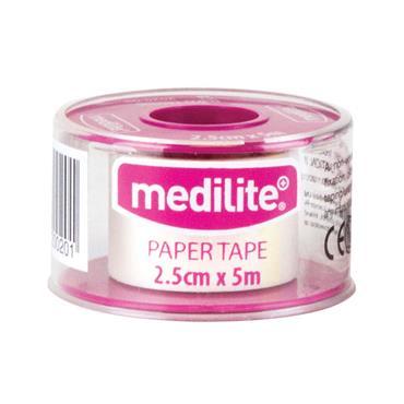 MEDILITE PAPER TAPE 2.50CM X 5M