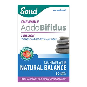 SONA CHEWABLE ACIDOBIFIDUS TABLETS 30 PACK