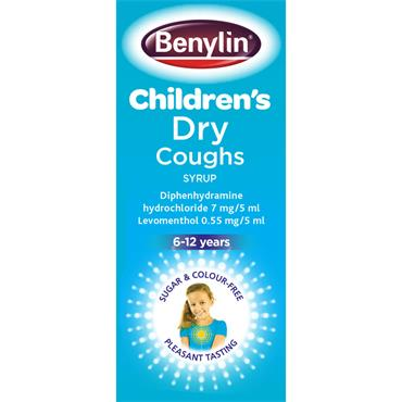 BENYLIN CHILDRENS DRY COUGHS SYRUP 125ML