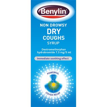 BENYLIN NON DROWSY DRY COUGHS SYRUP 125ML