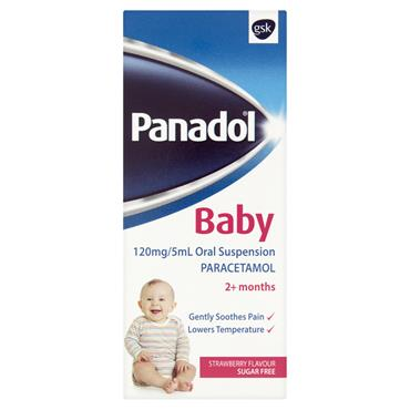 PANADOL BABY 2M+ STRAWBERRY FLAVOUR SUGAR FREE 100ML