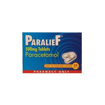 PARALIEF 500MG TABLETS PARACETAMOL 24 PACK