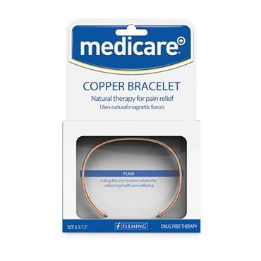 MEDICARE COPPER BRACELET WITH 2 MAGNETS BEVELLED MEDIUM/LARGE