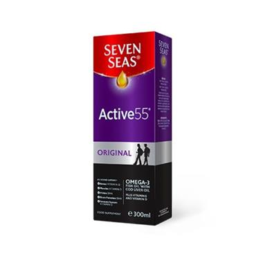 SEVEN SEAS ACTIVE 55 ORIGINAL COD LIVER OIL LIQUID 300ML