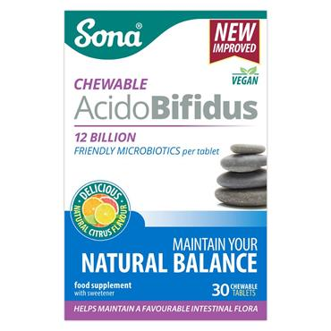 SONA SONA ACIDOBIFIDUS CHEWABLE TABLETS 30 PACK