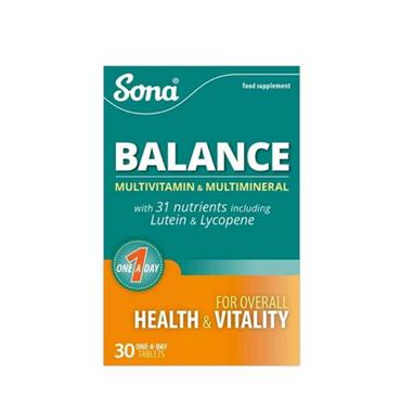 SONA SONA BALANCE MULTIVITAMIN & MULTIMINERAL 30 TABLETS