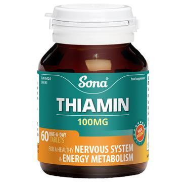 SONA THIAMIN B1 100MG 60 TABLETS