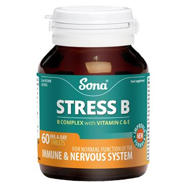 SONA STRESS B COMPLEX WITH VITAMIN A & E TABLETS 60 PACK
