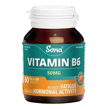 SONA SONA VITAMIN B6 50MG (60 TABLETS)