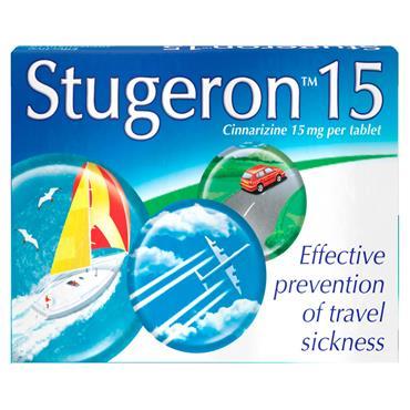 STUGERON 15MG TRAVEL SICKNESS TABLETS