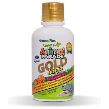 NATURES PLUS SOURCE OF LIFE ANIMAL PARADE GOLD LIQUID 480ML