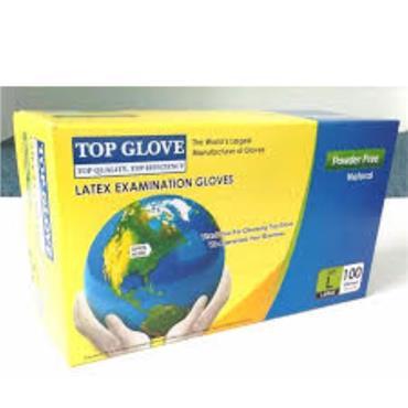 TOP GLOVE LATEX POWDER FREE LARGE