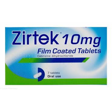 ZIRTEK ALLERGY RELIEF 10MG FILM COATED TABLETS 7 TABELTS