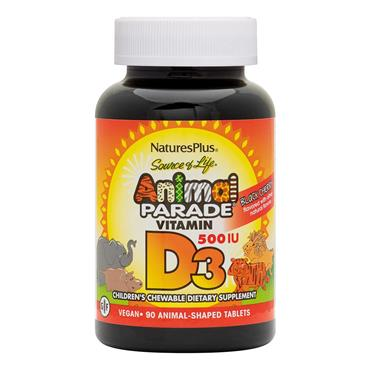NATURES PLUS AP VIT D3 500 IU CHEWABLE 90S