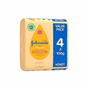 JOHNSONS BABY SOAP HONEY X4 PACK 100G
