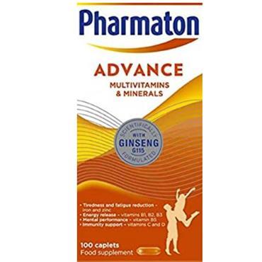 PHARMATON ADVANCE MULTIVITAMIN AND MINERALS 100 CAPLETS
