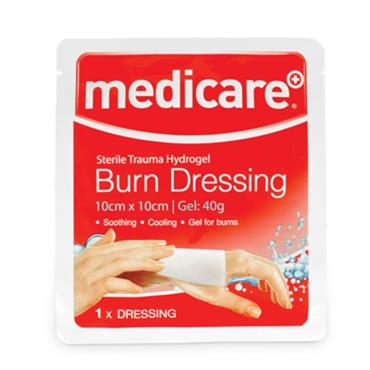 MEDICARE BURN DRESSING 10CM X 10CM (1 PACK)
