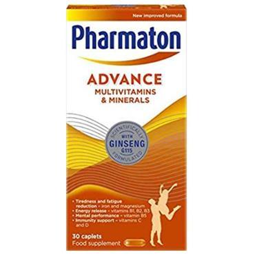 PHARMATON ADVANCE MULTIVITAMINS AND MINERALS 30 CAPLETS