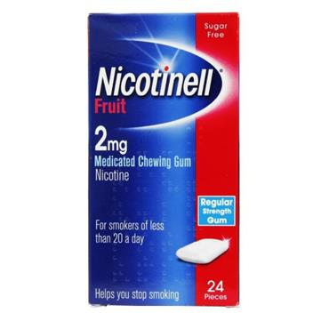 NICOTINELL GUM FRUIT 2MG 24S