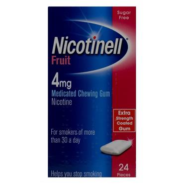 NICOTINELL GUM FRUIT 4MG 24S