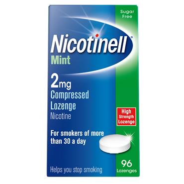 NICOTINELL MINT 2MG COMPRESSED LOZENGE (96 PACK)