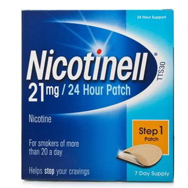 NICOTINELL TTS30 21MG 24HRS PATCH STEP 1 (7 DAY SUPPLY)
