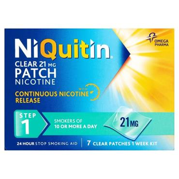 NIQUITIN CLEAR STEP 1 21MG/24 HRS 7 PATCHES