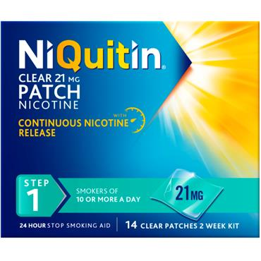 NIQUITIN CLEAR STEP 1 21MG/24 HRS 14 PATCHES