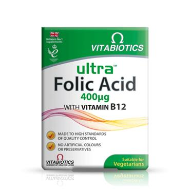 VITABIOTICS VITABIOTICS ULTRA FOLIC ACID 400 IU 60 TABLETS
