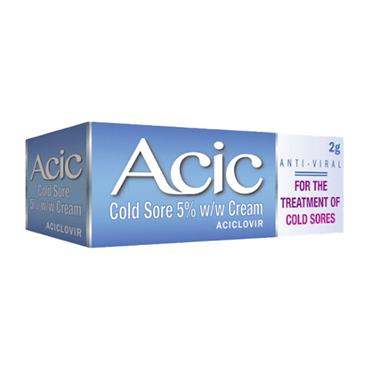 ACIC 5% CREAM COLD SORE TREATMENT