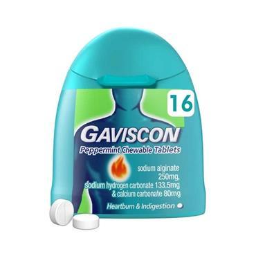 GAVISCON HANDIPAK 16S PEPPERMINT FLAVOUR