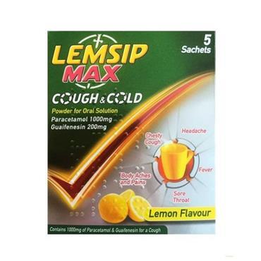LEMSIP MAX COUGH & COLD 5 SACHETS