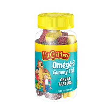 LIL CRITTERS OMEGA-3 GUMMY FISH 60 PACK