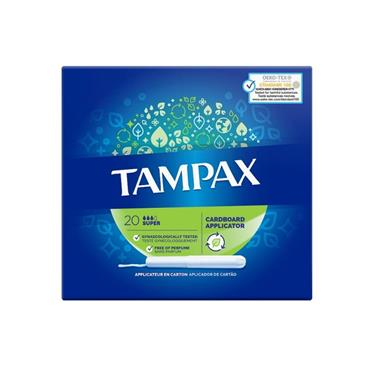 TAMPAX SUPER 20 PACK SIZE