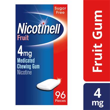 NICOTINELL FRUIT 4MG GUM 96S