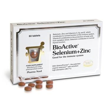PHARMA NORD BIOACTIVE SELENIUM + ZINC 60 TABLETS