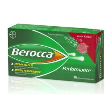 BEROCCA EXOTIC EFFERVESCENT TABLETS 30 PACK