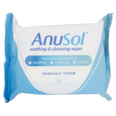 ANUSOL SOOTHING CLEANSING WIPES 30 PACK