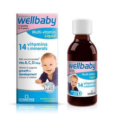 VITABIOTICS WELLBABY MULTI VITAMIN LIQUID FOR BABIES