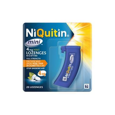NIQUITIN MINI 4MG MINT LOZENGES 20 PACK