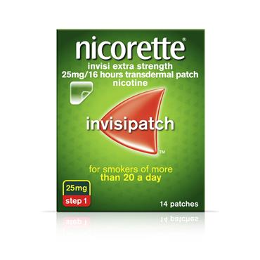 NICORETTE INVISIBLE 25MG 16HRS PATCH 14 PACK